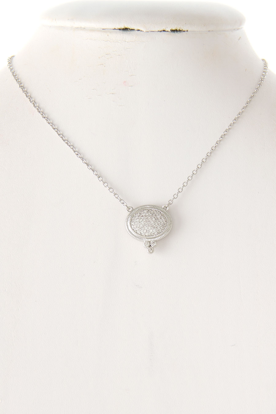OVAL CRYSTAL PAVE NECLACE - orangeshine.com