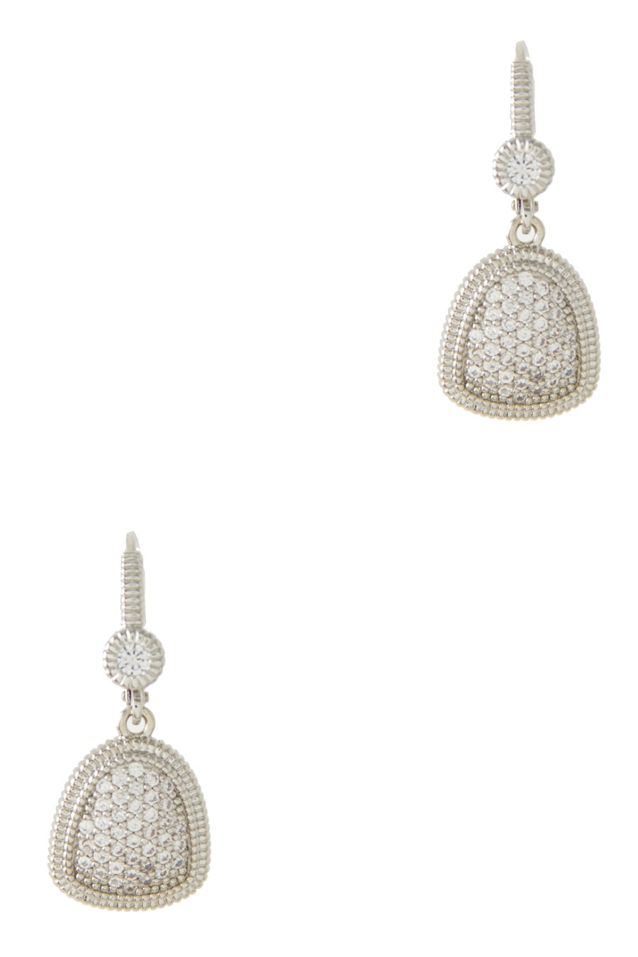 CRYSTAL PAVE DROP EARRING - orangeshine.com