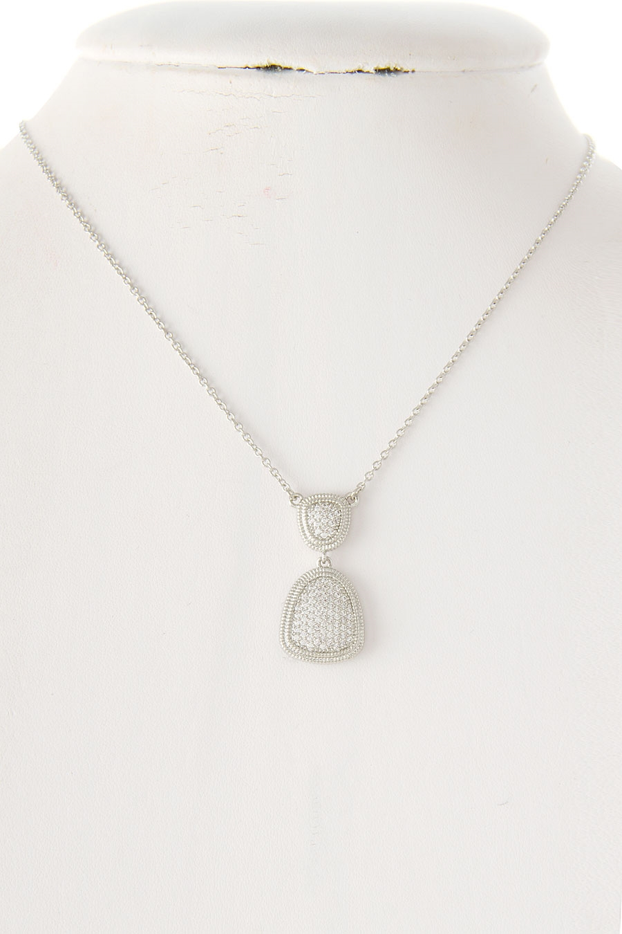 CRYSTAL PAVE DROP NECKLACE - orangeshine.com