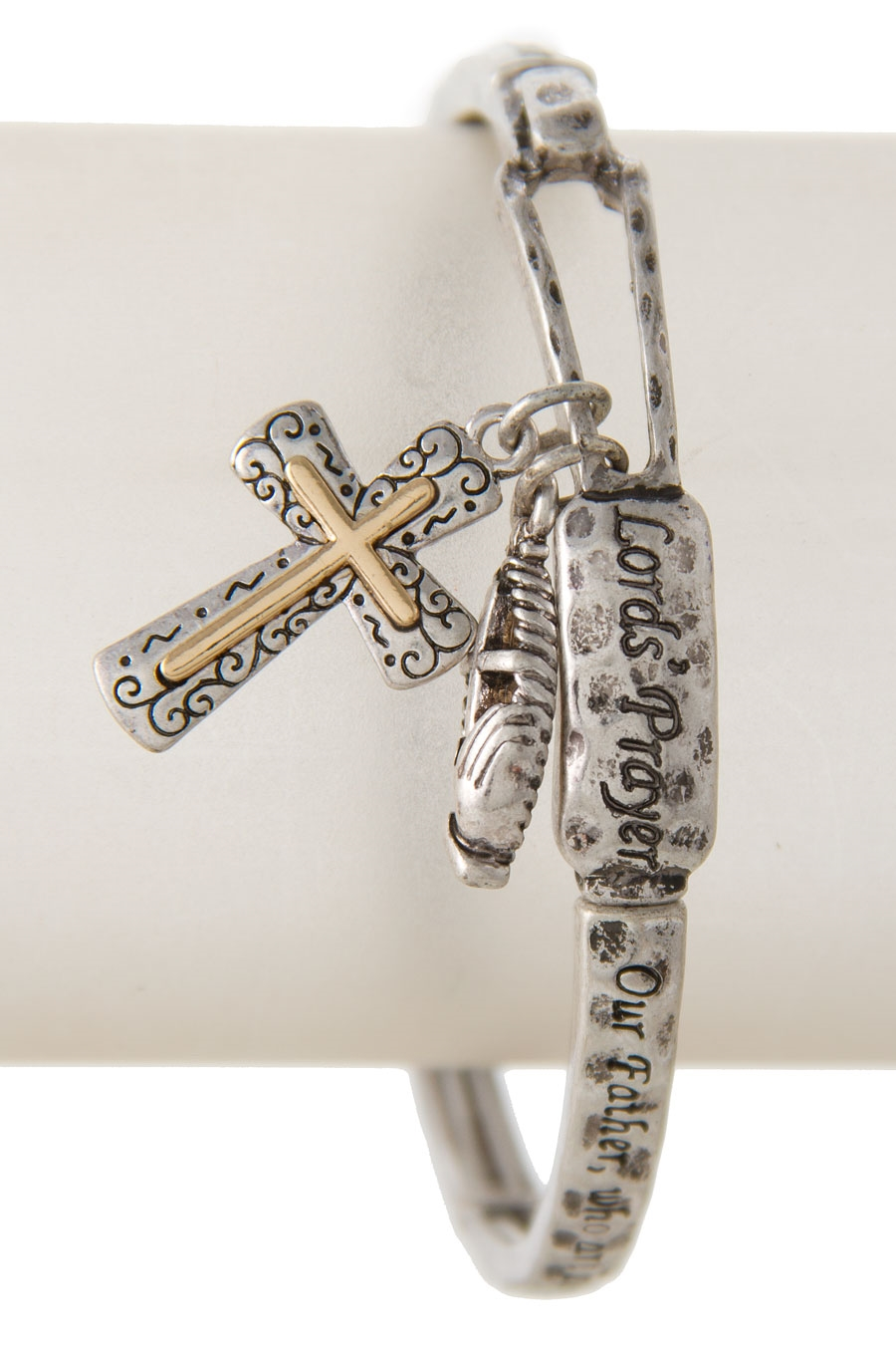 PRAYER CROSS CHARM BRACELET - orangeshine.com