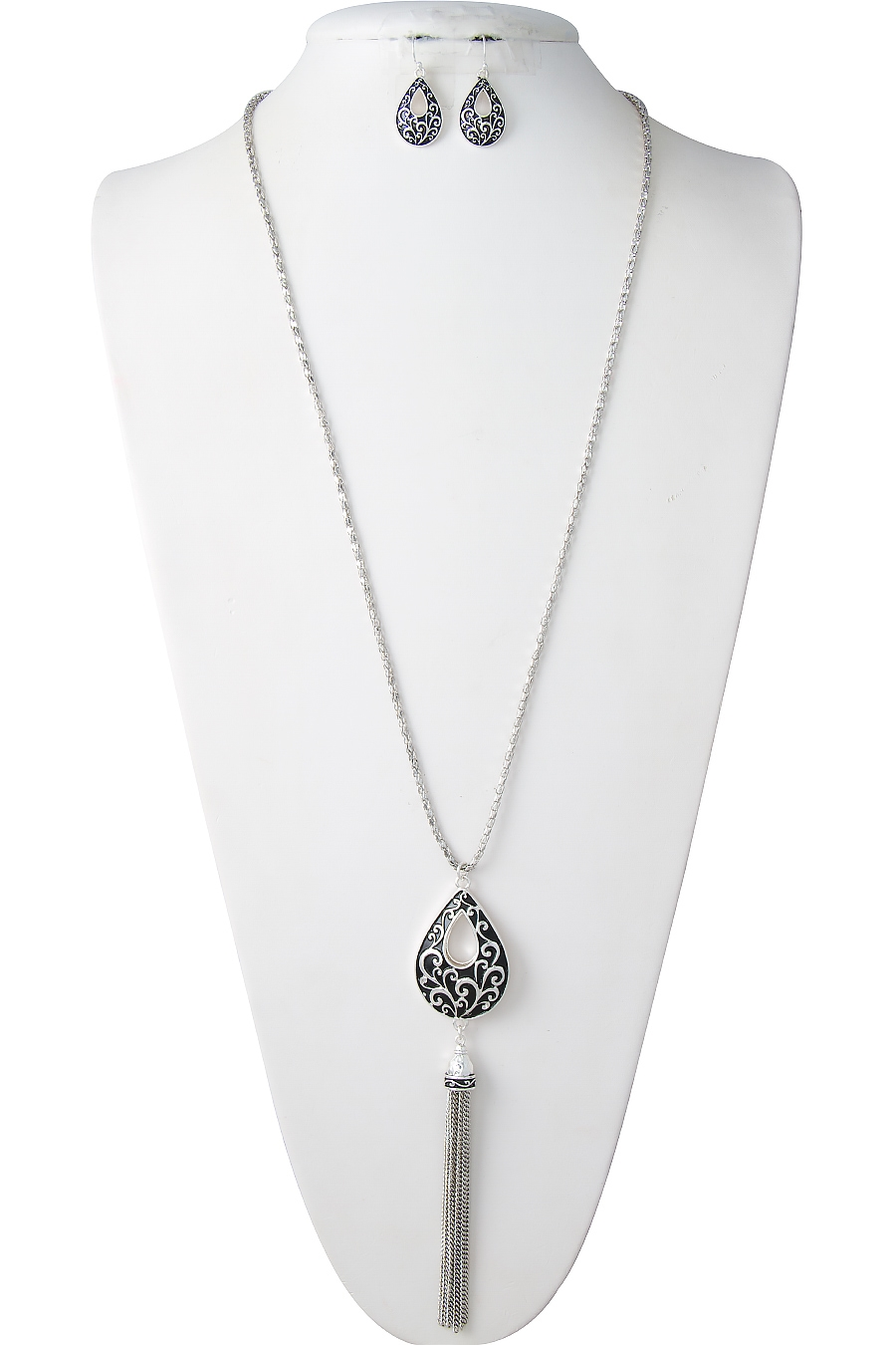 FILIGREE TEARDROP NECKLACE - orangeshine.com