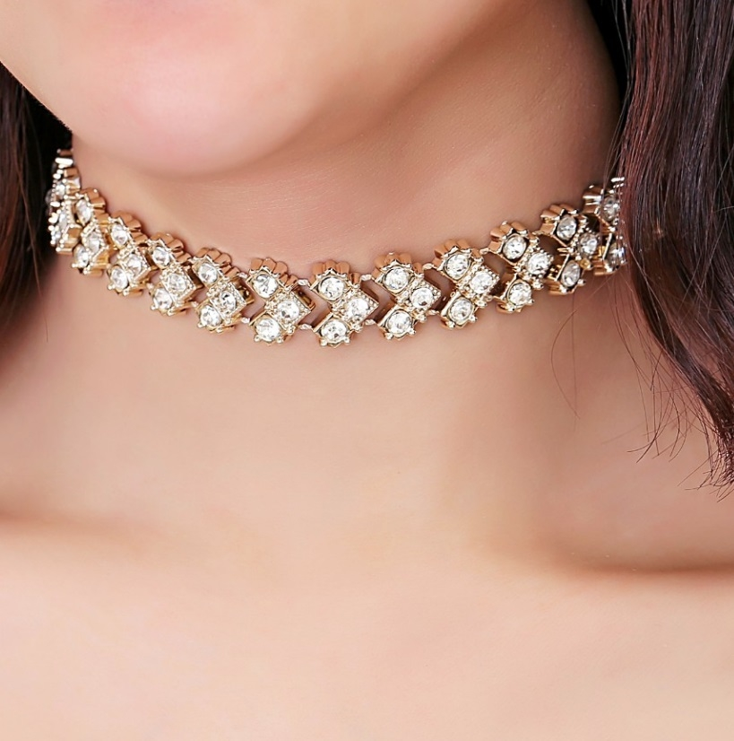 Gold Crystal Choker - orangeshine.com