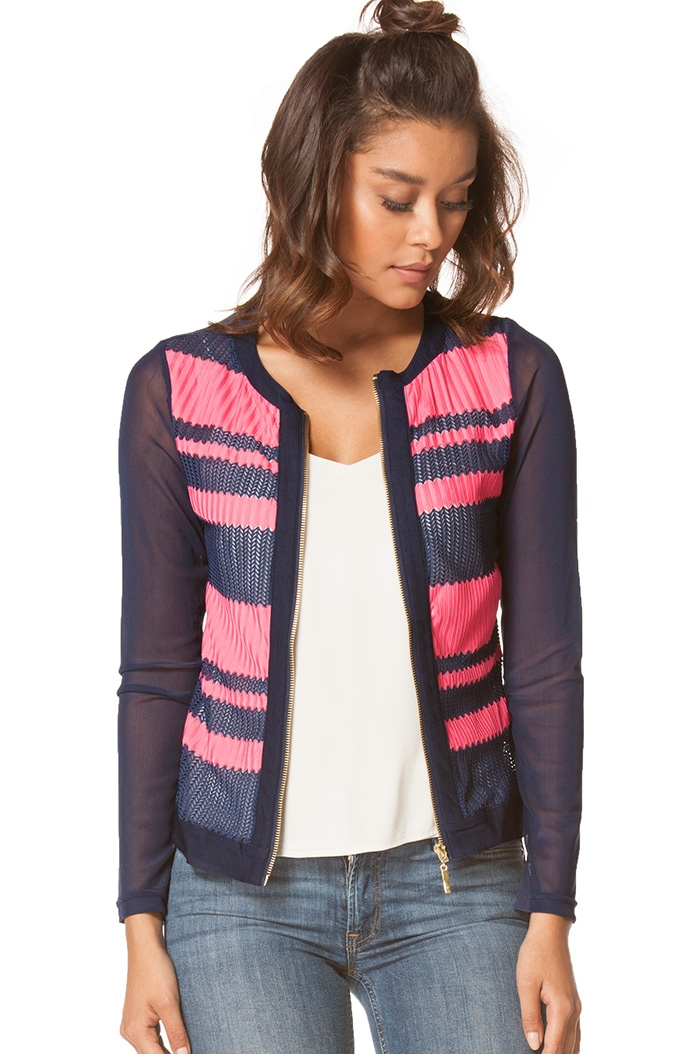 Striped  Jacket - orangeshine.com