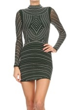 Body-con Mini Dress - orangeshine.com