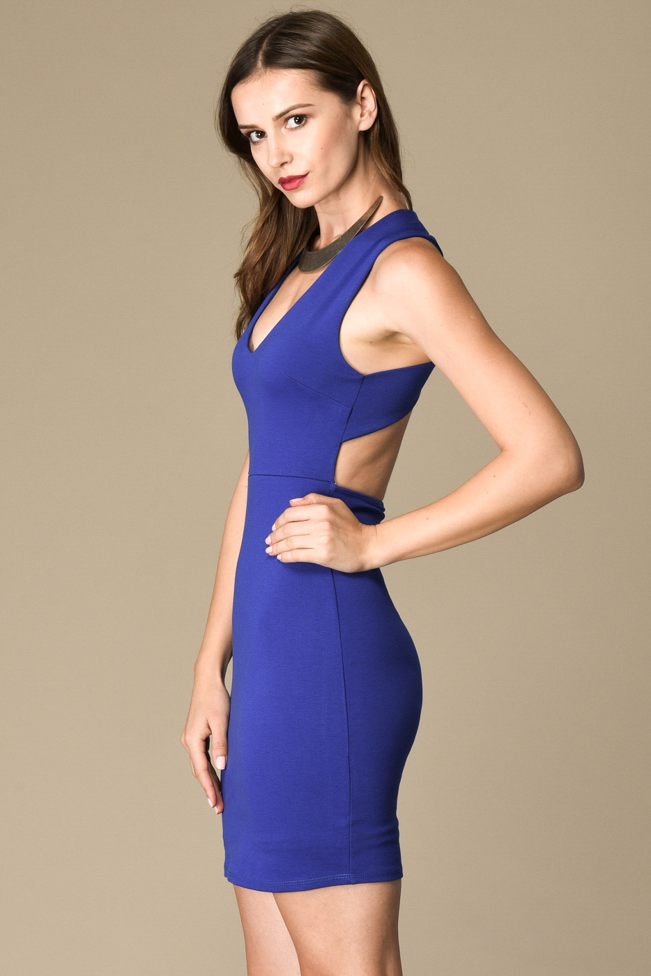 X BACK BODYCON DRESS WITH BACK - orangeshine.com