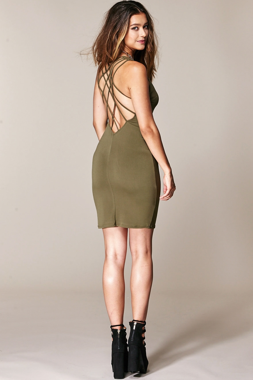 BACK STRAP DRESS - orangeshine.com