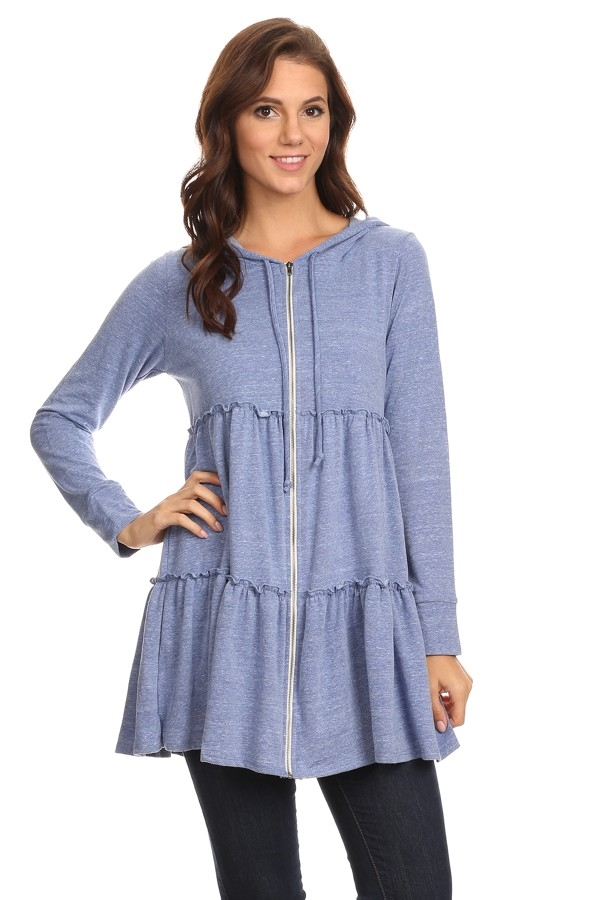 Tiered long sleeve Tunic - orangeshine.com