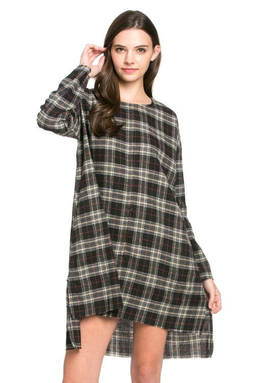 Plaid shift dress - orangeshine.com