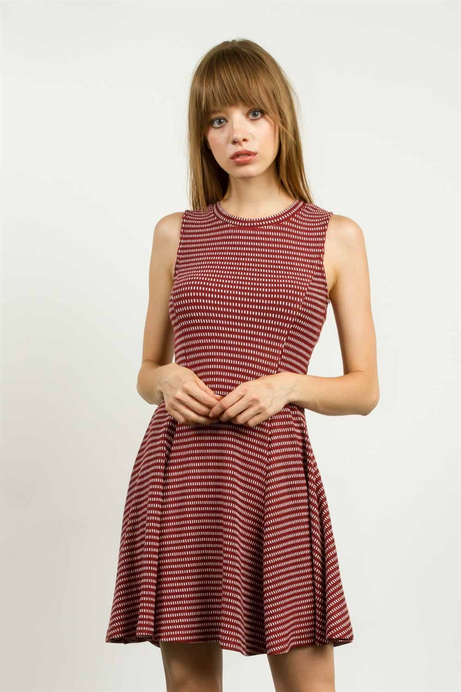 SLEEVELESS FLARE DRESS - orangeshine.com