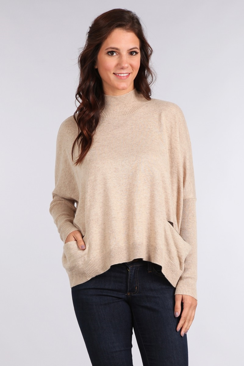 SOLID KNIT SWEATER TOP - orangeshine.com