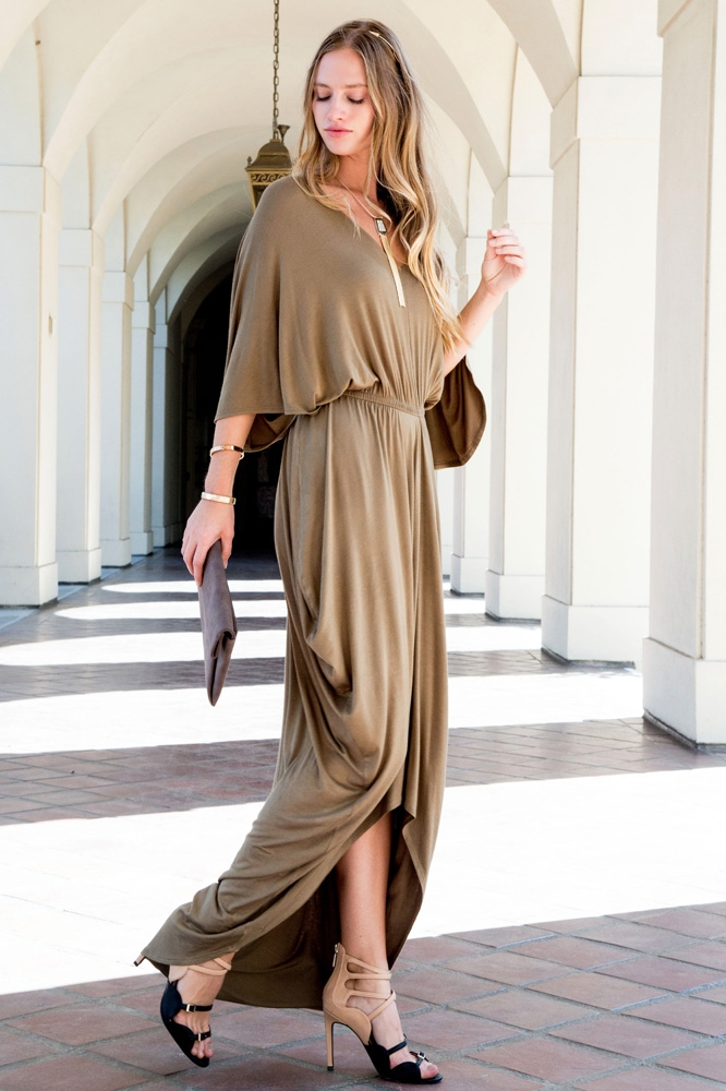 V NECK DRESS - orangeshine.com