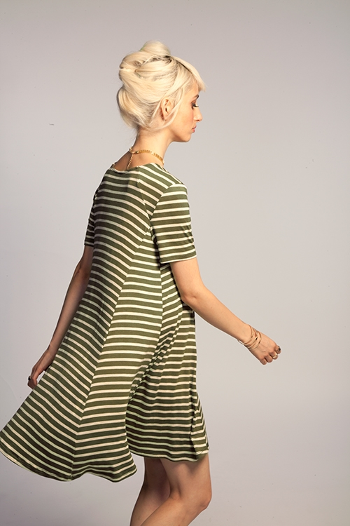 STRIPE TEE DRESS - orangeshine.com