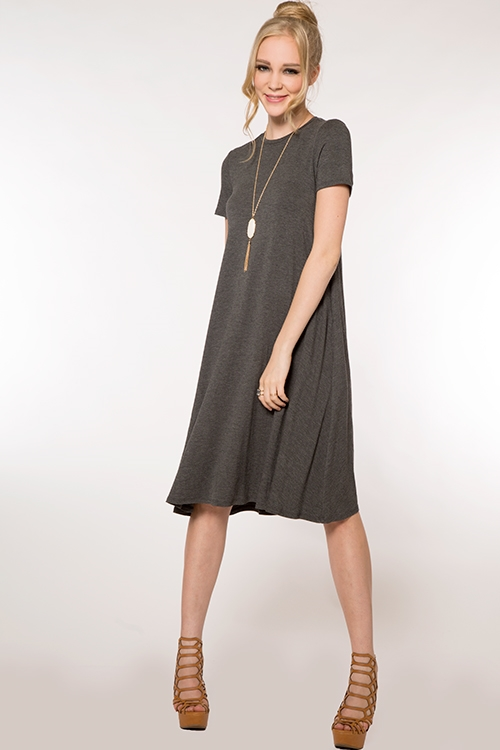 MIDI TEE DRESS - orangeshine.com