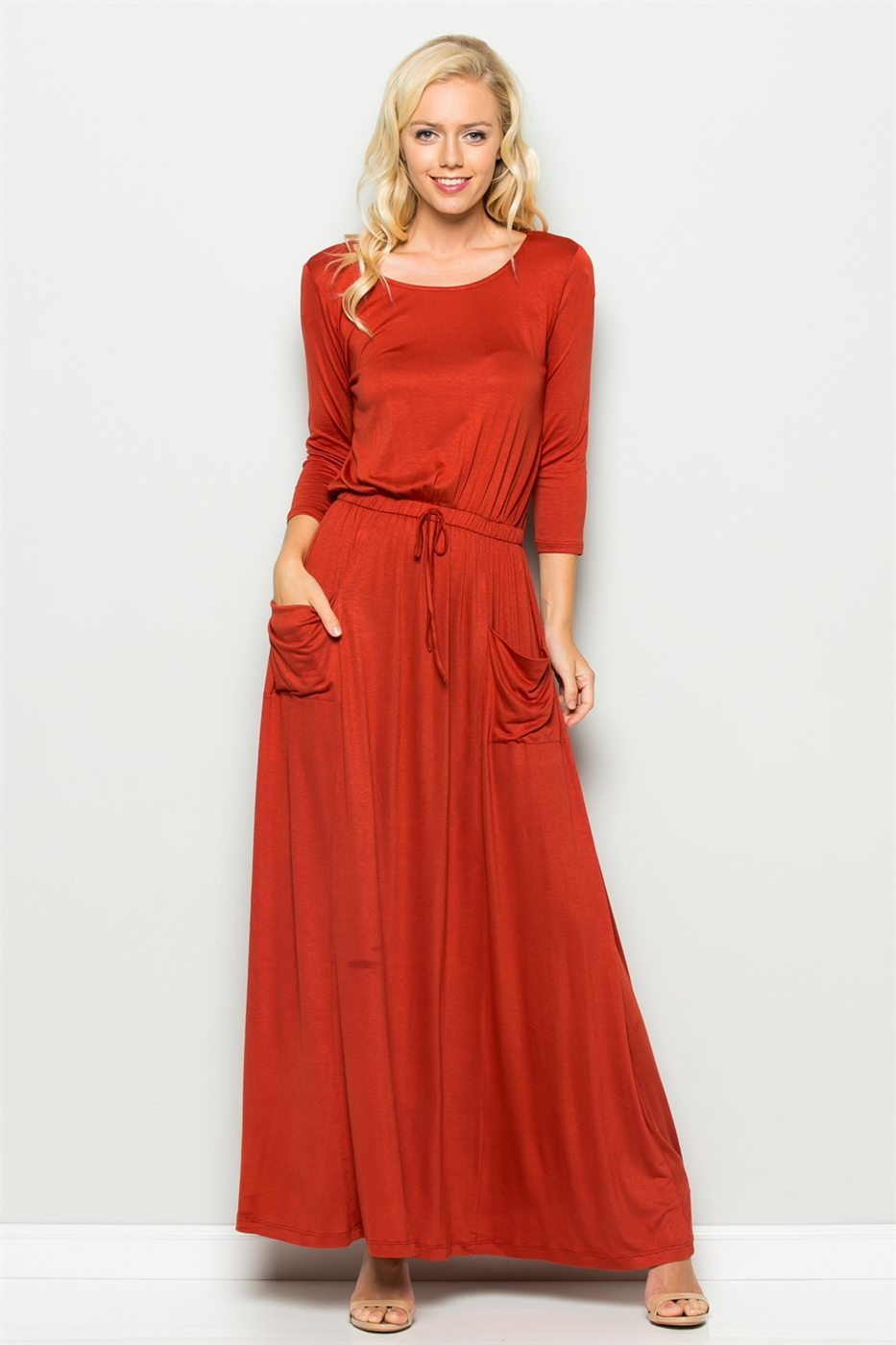 DRAWSTRING DRESS - orangeshine.com