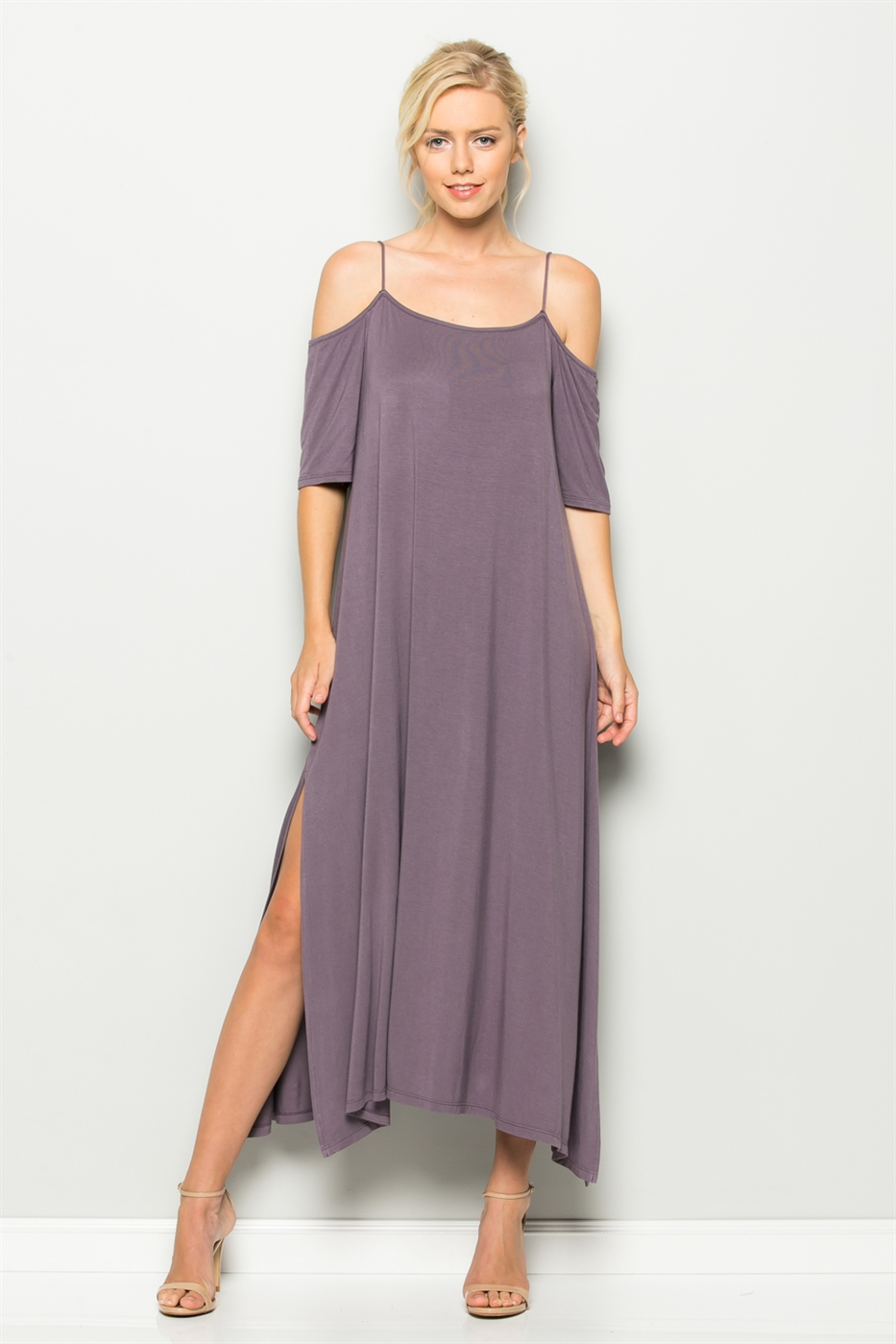 BELL SLEEVE MAXI DRESS - orangeshine.com