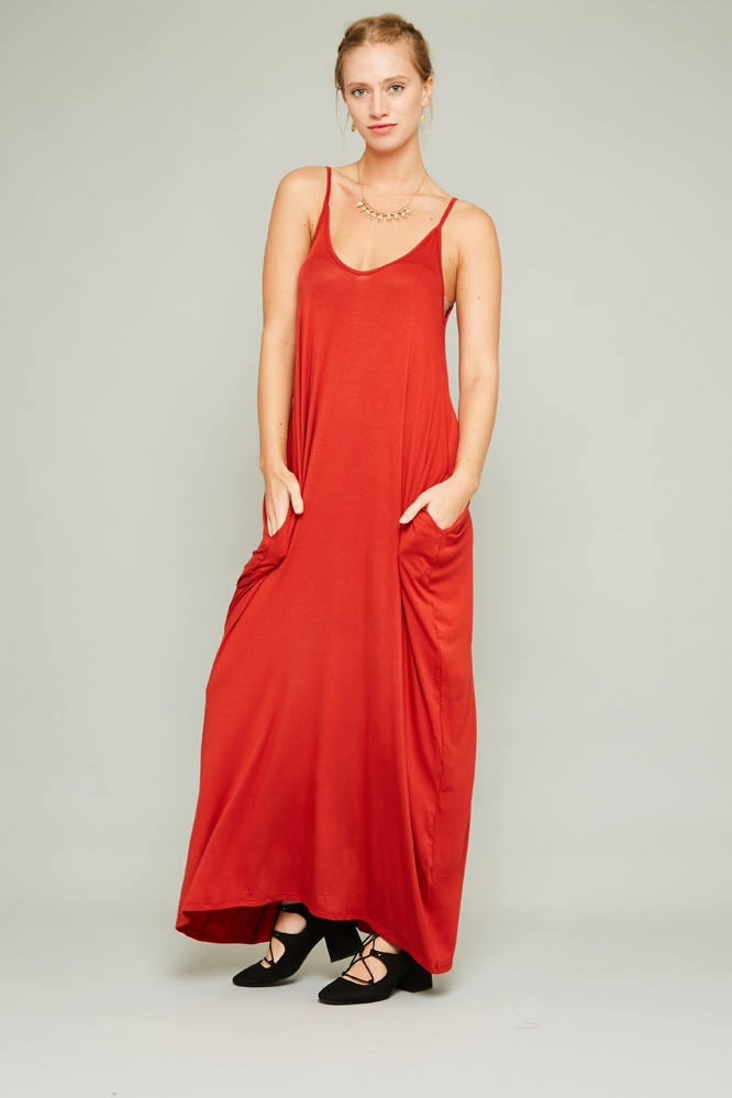 SPAGHETTI MAXI DRESS - orangeshine.com