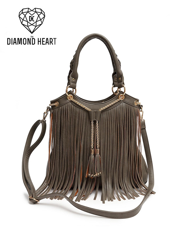 Chain and Fringe Tote - orangeshine.com