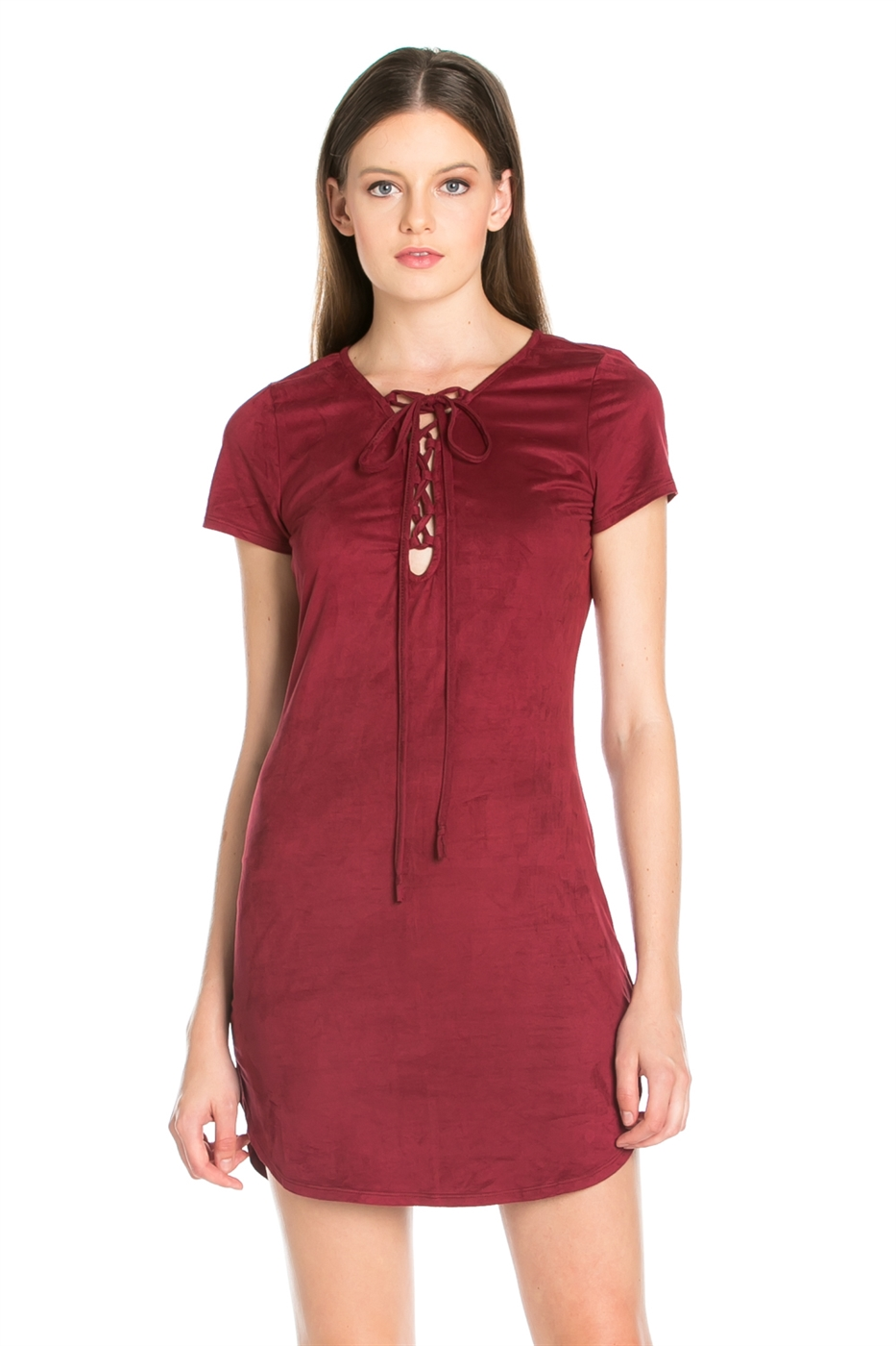 CENTER EYELET STRINGS DRESS - orangeshine.com