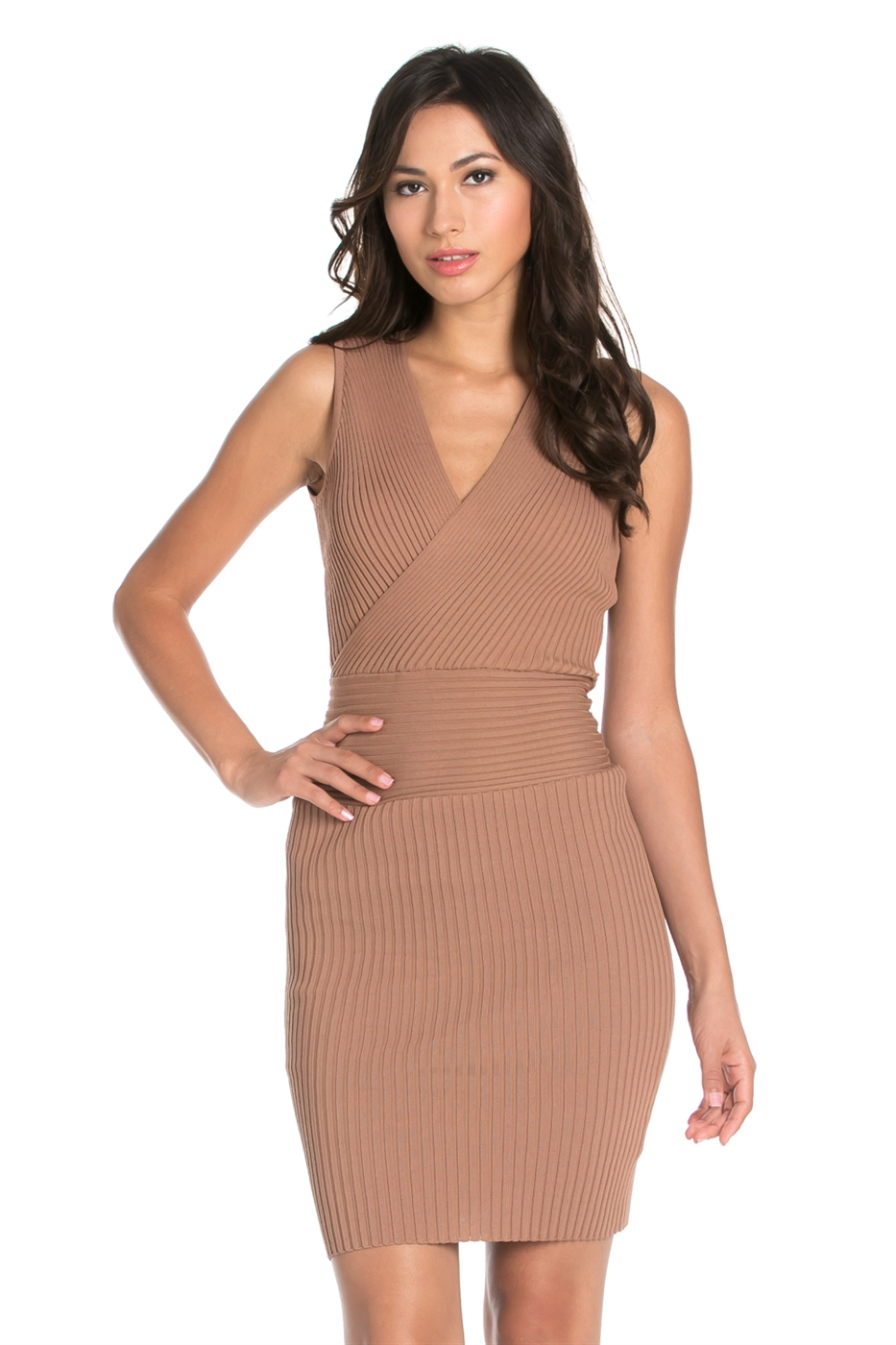 V NECK SLEEVELESS LONG DRESS - orangeshine.com