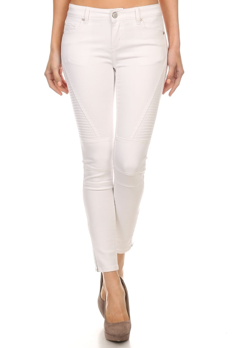 TEXTURED SOLID DENIM in WHITE - orangeshine.com