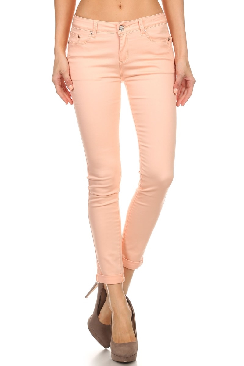 CROPPED BLUSH JEANS - orangeshine.com