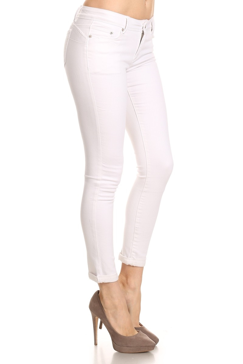 WHITE CROPPED DENIM - orangeshine.com