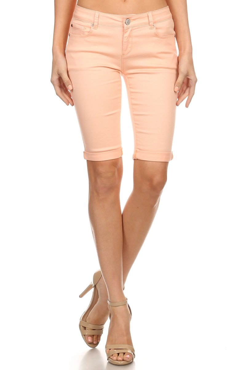 ABOVE THE KNEE SHORTS in BLUSH - orangeshine.com