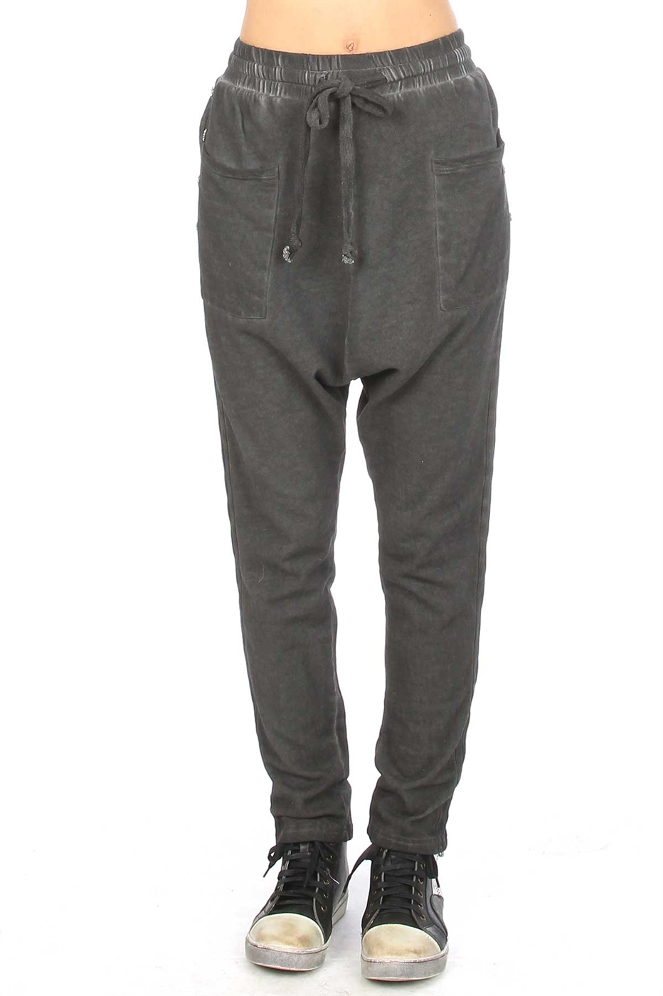 Washed baggy sweat pants - orangeshine.com