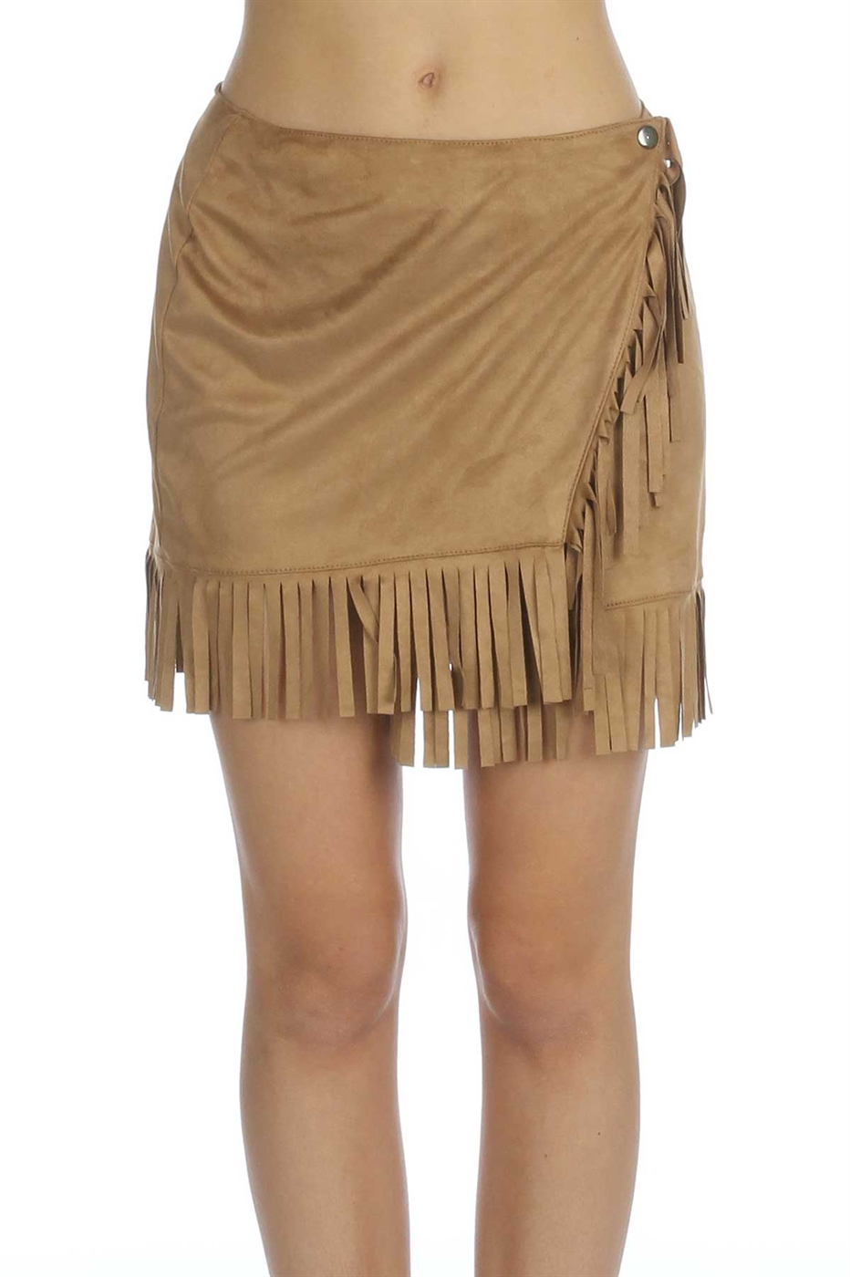 Fringed suede mini skirt - orangeshine.com
