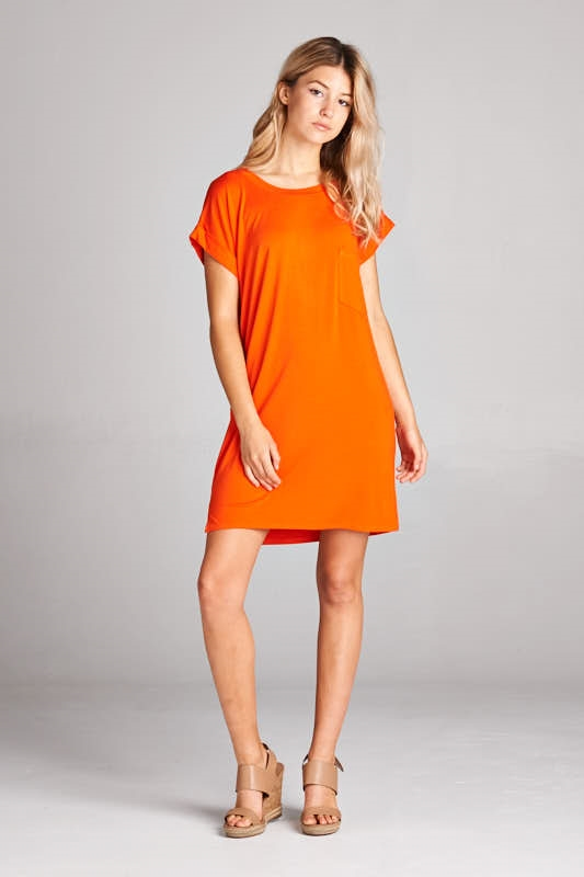 SOLID TEE DRESS - orangeshine.com
