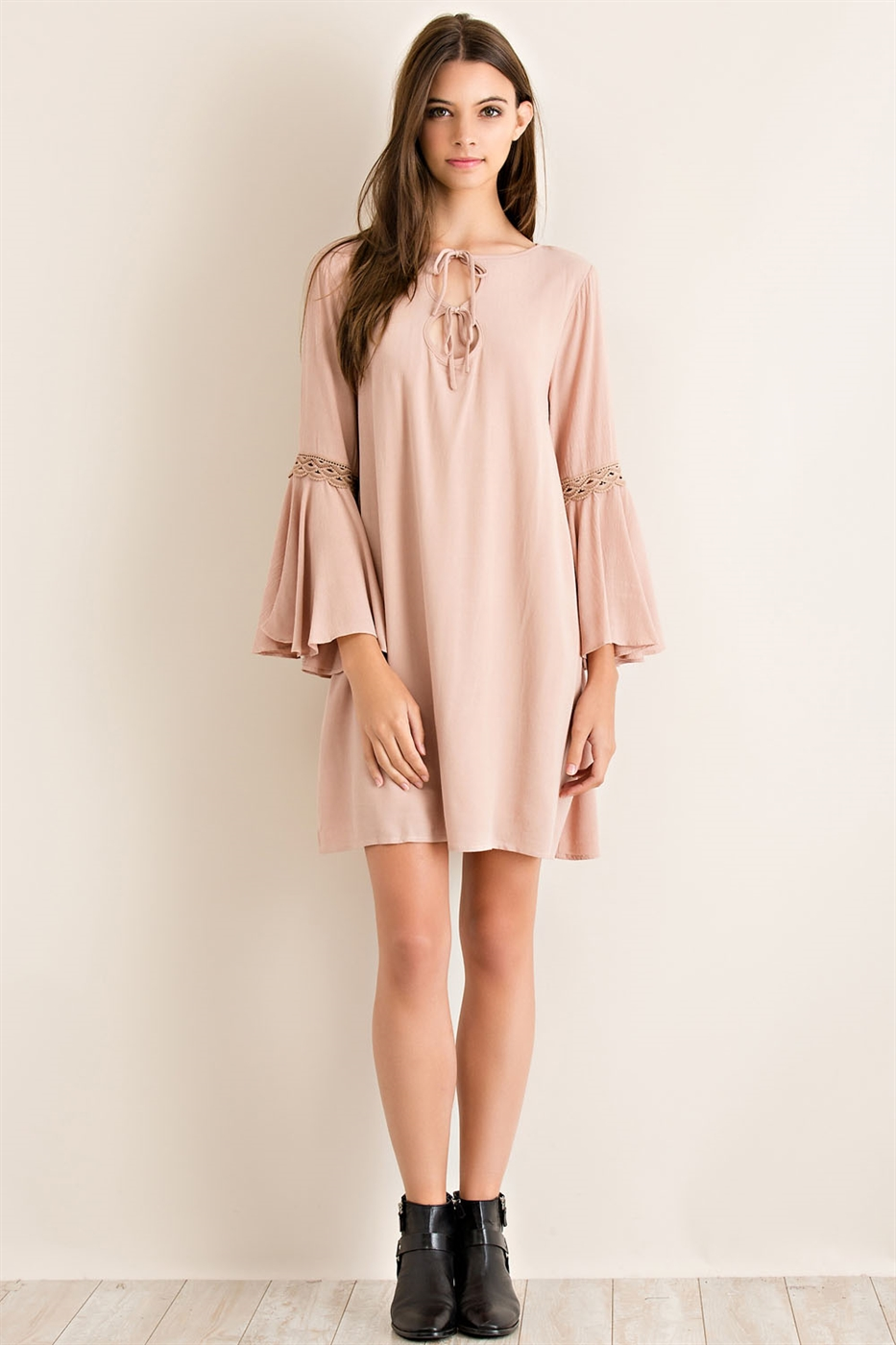 Solid Flowy Dress - orangeshine.com