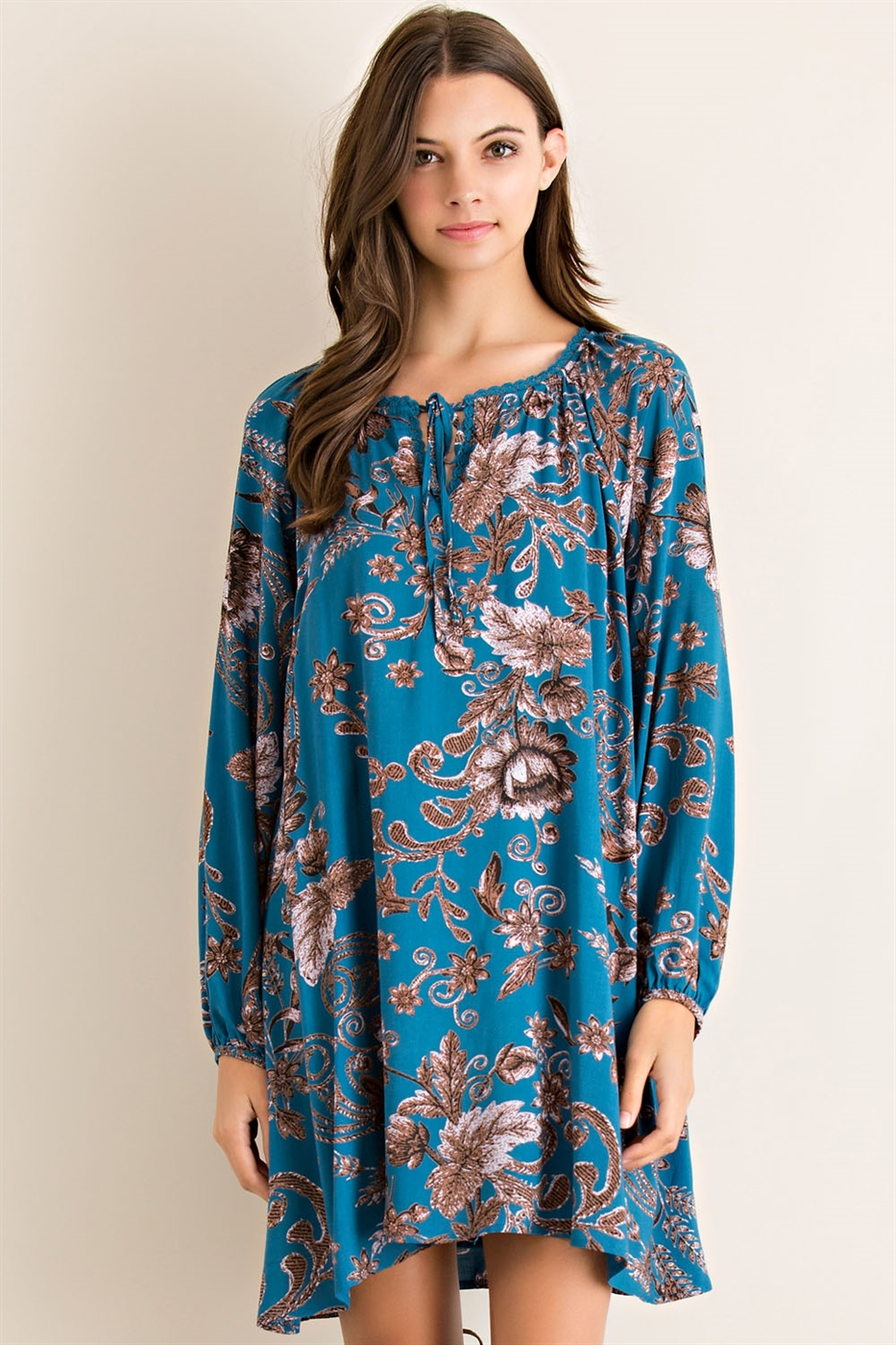 Floral Print Loose Fit Dress - orangeshine.com