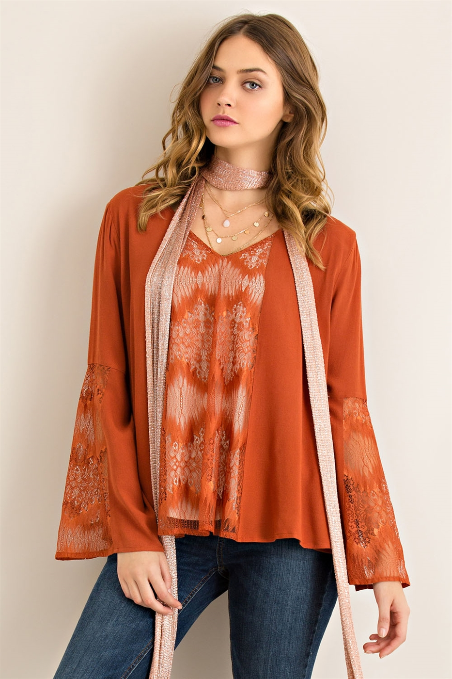 Solid Lace Top - orangeshine.com