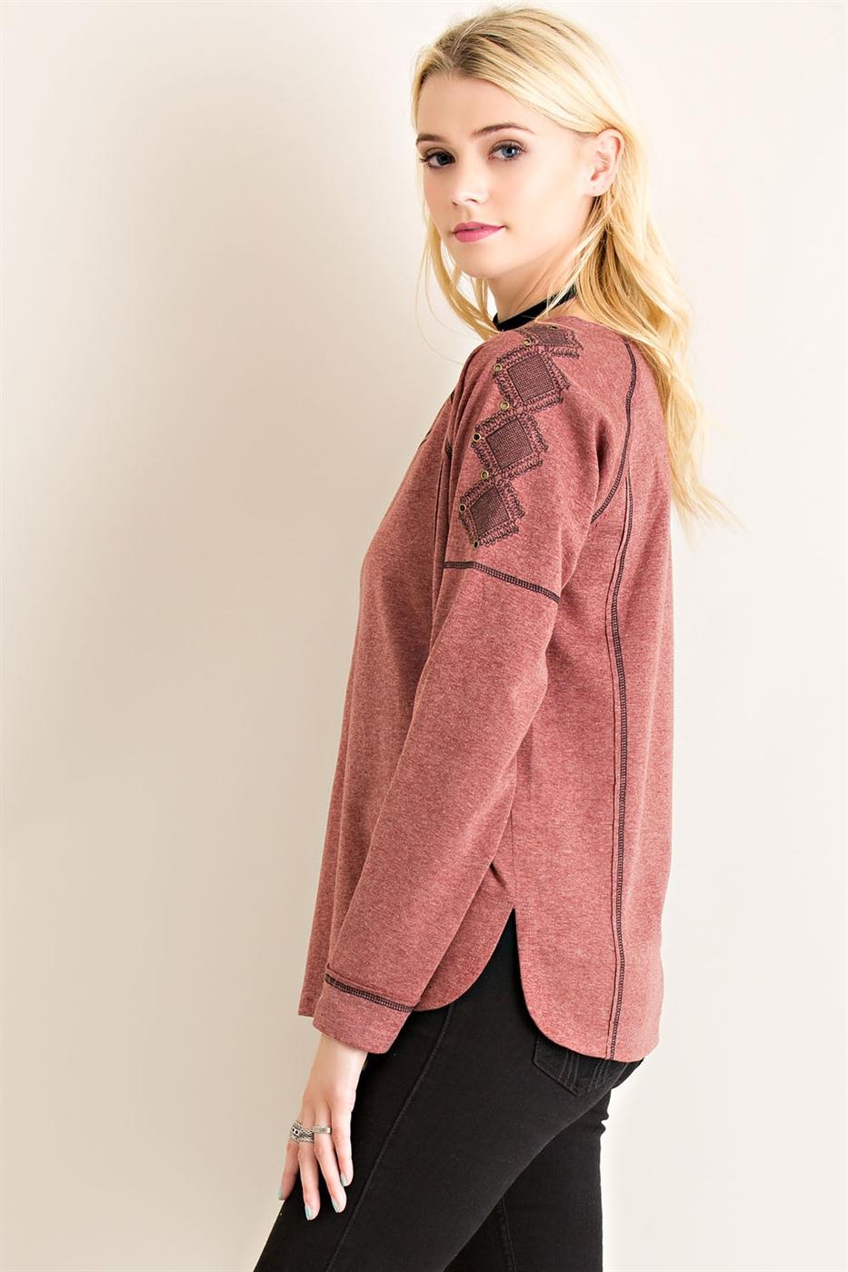 Melange Pull Over Sweater - orangeshine.com