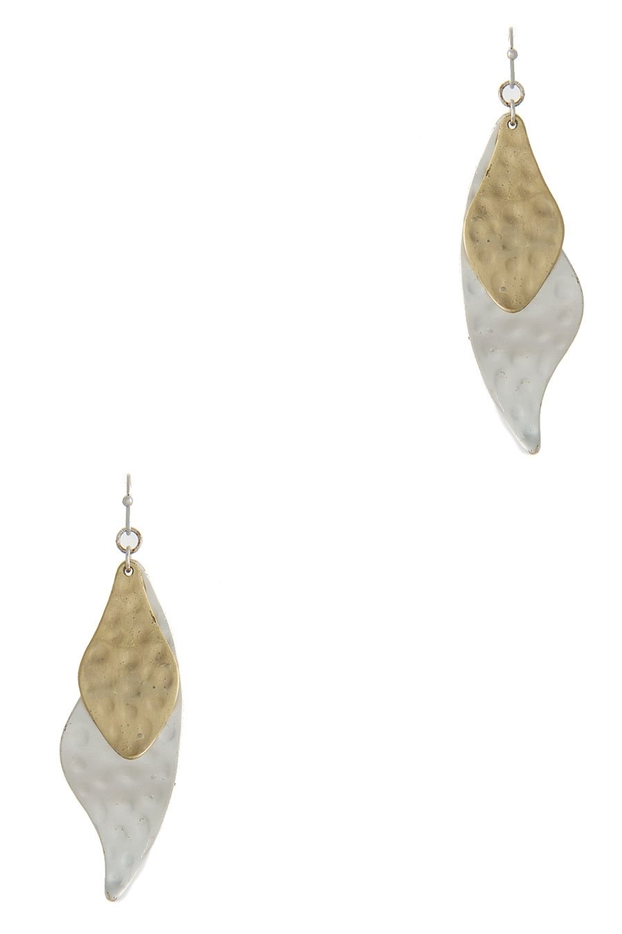 TWO TONE PLATE EARRING - orangeshine.com
