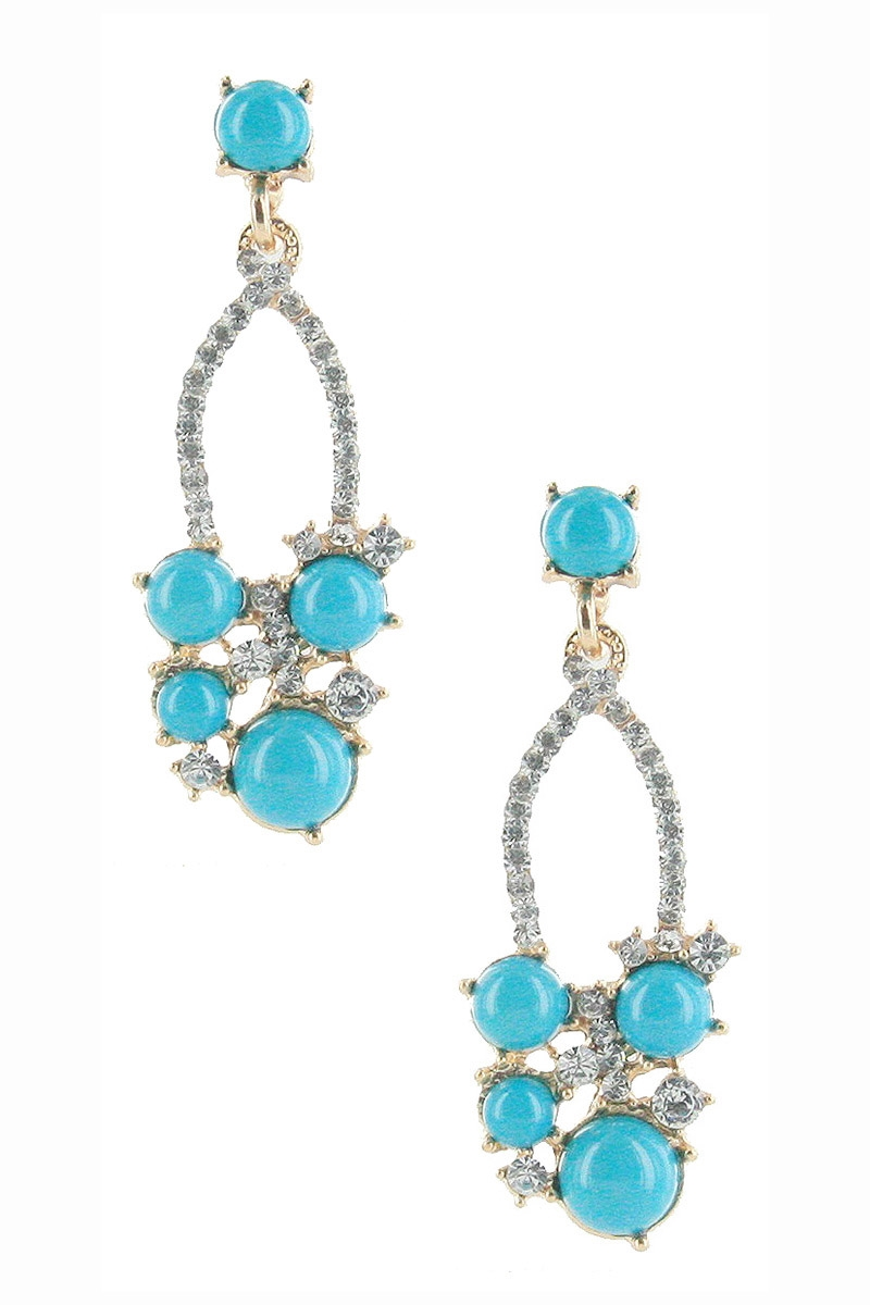 Rhinestone Dangle Earring - orangeshine.com