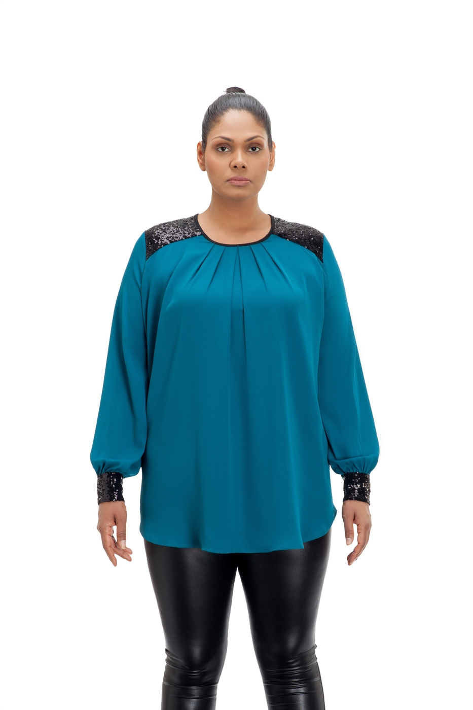 Teal Holiday Tunic - orangeshine.com