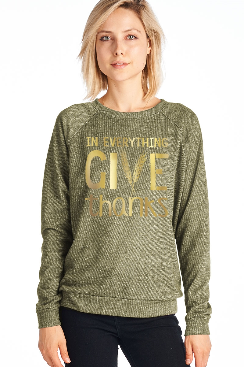 Give Long Sleeve Pullover - orangeshine.com