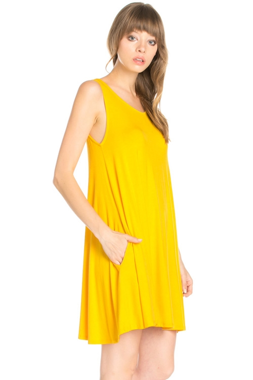 CROSS BACK POCKET SWING DRESS - orangeshine.com
