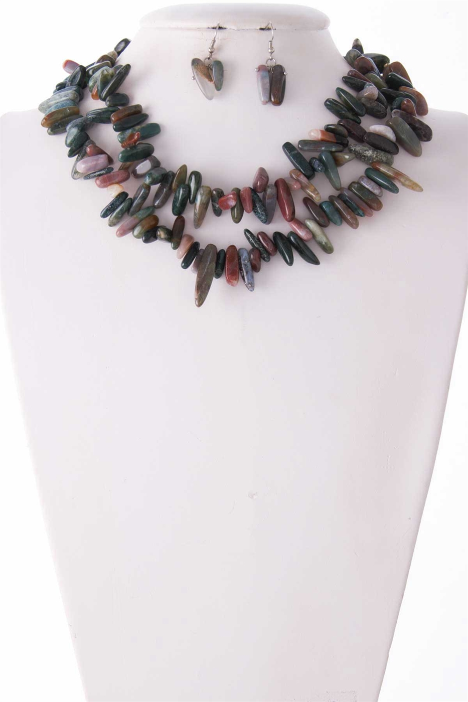NATURAL CHIP STONE NECKLACE   - orangeshine.com
