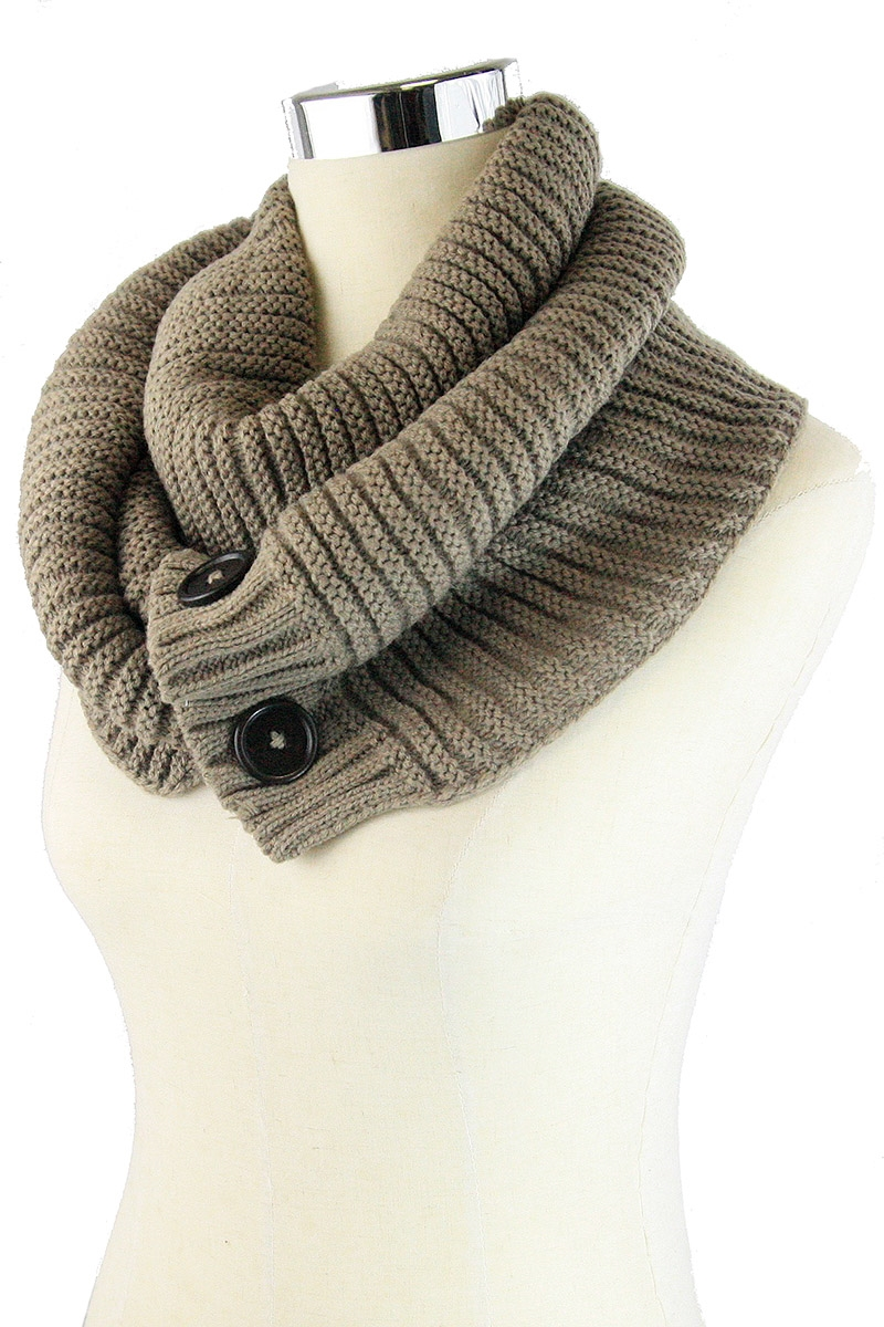 Button Accent Scarf - orangeshine.com