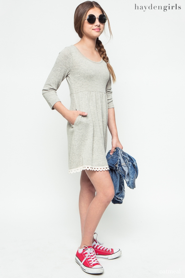 A-Line Sweater Dress - orangeshine.com