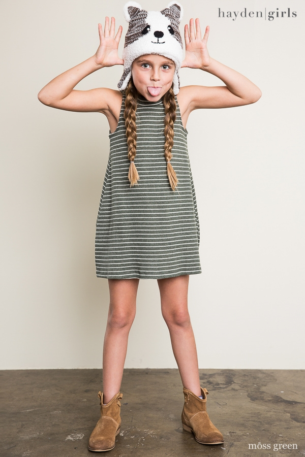 Stripe Mock Dress - orangeshine.com