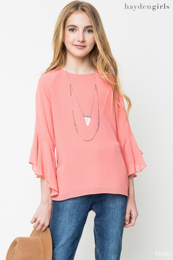 Bell Sleeve Blouse - orangeshine.com