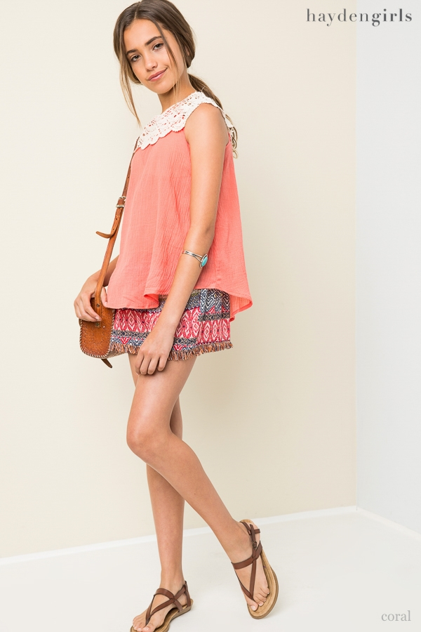 Lace Bib Tunic - orangeshine.com