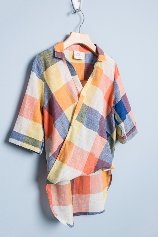 Collared Plaid Shirt - orangeshine.com