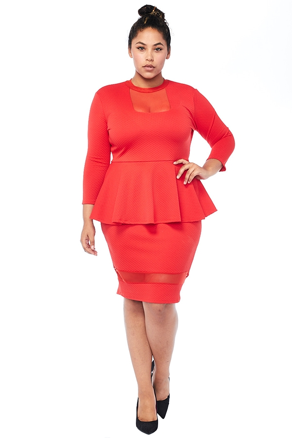 Peplum Dress - orangeshine.com