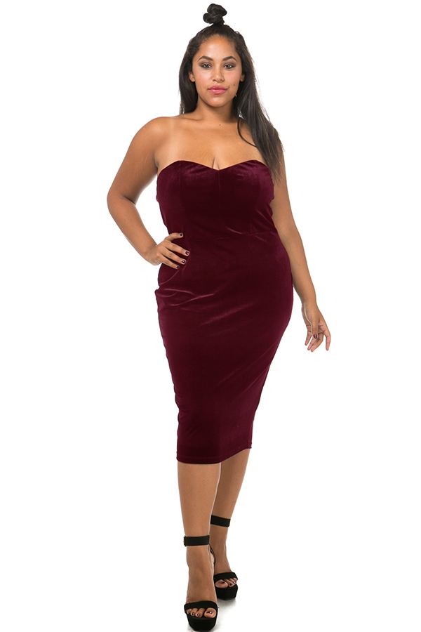 Velvet tube dress - orangeshine.com