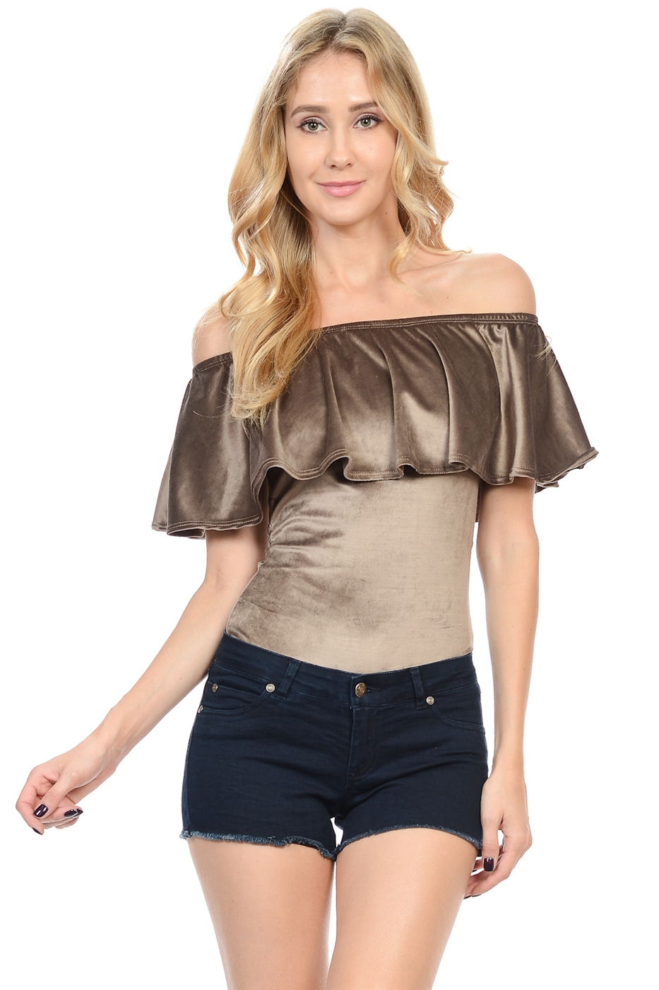 VELVET OFF FLAIR OFF SHOULDER - orangeshine.com