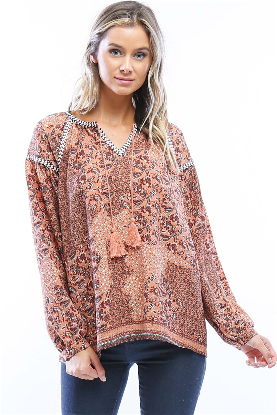 Textured Embroidery Top - orangeshine.com